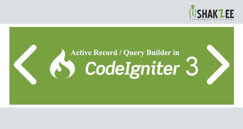 Active Record in CodeIgniter