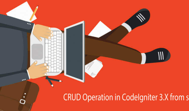 crud operation in CodeIgniter