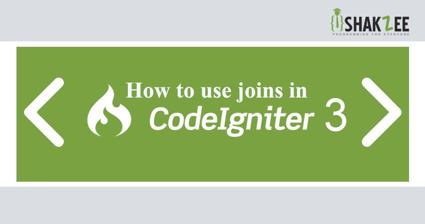 joins in codeigniter
