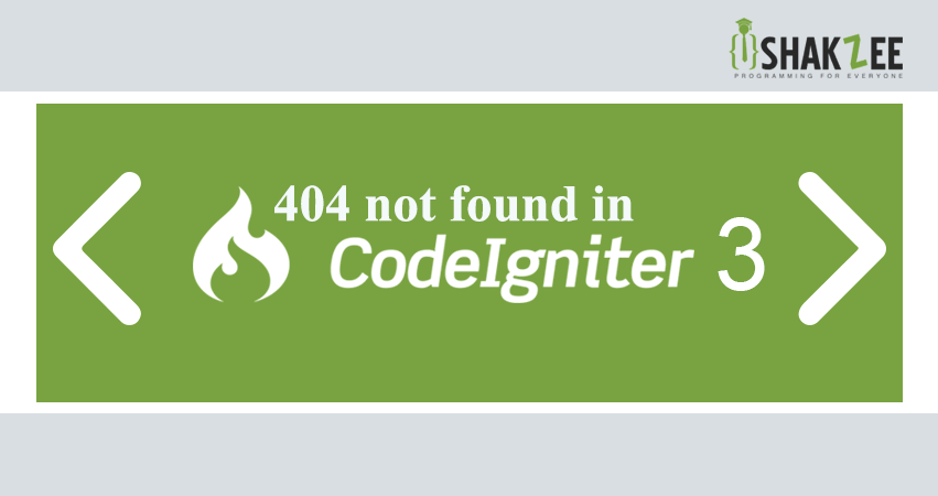 404 not found in codeIgniter with example | shakzee